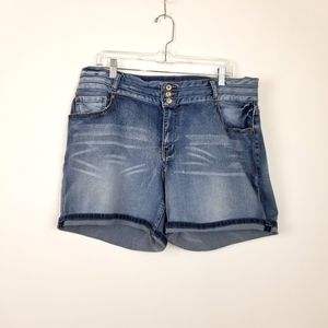 Cato jean shorts, sz 18w